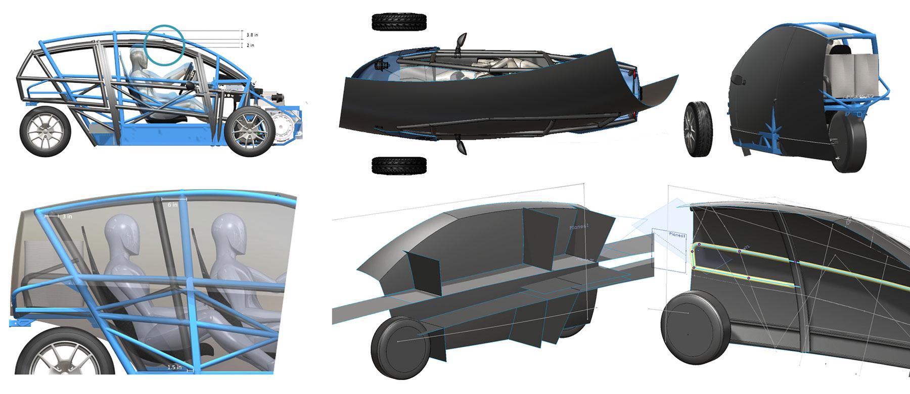 ARCIMOTO EVs Gen7 - COURANA | Multidisciplinary design by Marcos Nolan